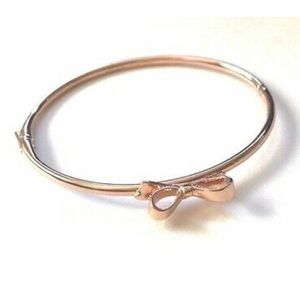 NEW/NWT Rose Gold Kate Spade Bangle with Bow
